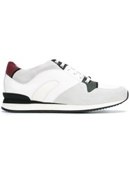 Christian Dior Homme Panelled Sneakers White