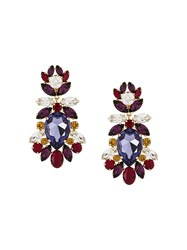 Dolce And Gabbana Crystal Clip On Earrings Metallic