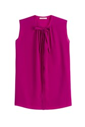 Etro Sleeveless Silk Blouse Purple