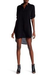 Allen Allen Roll Tab Shirt Dress Black