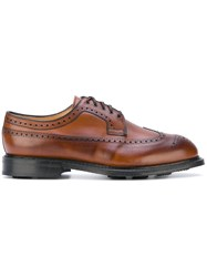 Church's Lace Up Shoes Men Calf Leather Leather Rubber 7 Brown