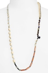 Berry Mixed Media Stretch Necklace No Color