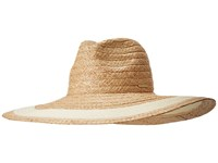Vince Camuto Nautical Stripe Floppy Whey Traditional Hats Yellow