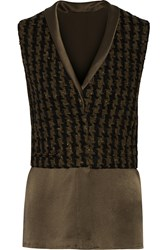 Haider Ackermann Boiled Wool Blend And Silk Crepe Vest Unknown