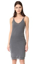 Stateside V Neck Tank Slip Dress Charcoal