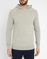 Scotch And Soda Mottled Grey Wool Hooded Sweater