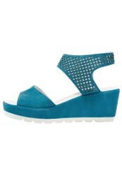 Gabor Wedge Sandals Kolibri Turquoise