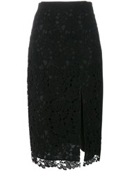 Msgm Lace Overlay Skirt Cotton Polyester Black