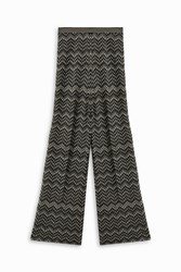 Missoni Snake Wide Leg Trousers Black