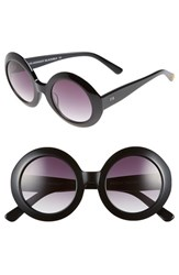Women's Freida Rothman 'Jackie O' 48Mm Round Sunglasses Black