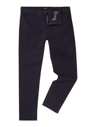 Replay Tapered Fit Stretch Twill Trousers Blue