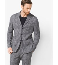 Herringbone Wool Melton Blazer