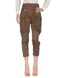 Ndegree 21 Casual Pants Dark Brown