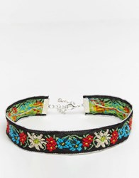 Reclaimed Vintage Embroidered Choker Multi