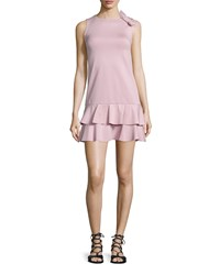 Red Valentino Ruffled Dress W Side Bow Detail Lilac Purple Size X Small