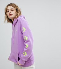 Converse Exclusive To Asos Hoodie In Purple With Arm Branding