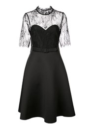 Badgley Mischka Lace Cocktail Dress Black