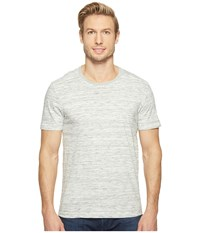 Agave Leroy Short Sleeve Crew Marble Stripe Heather Gray Men's Long Sleeve Pullover
