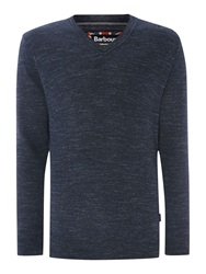 Barbour Barbane V Neck Navy