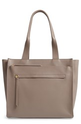 Nordstrom Finn Pebbled Leather Tote Grey Grey Taupe