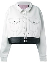 Alyx Button Up Jacket Women Cotton Artificial Leather M White