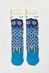Urban Outfitters Fish Flag Sock Blue