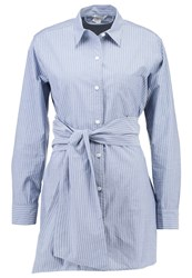 Club Monaco Edni Shirt Blue White