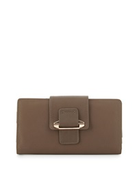 Kooba Jonnie Leather Tab Wallet Dark Fawn