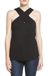 Women's Ella Moss 'Bella' Cross Front Sleeveless Top Black
