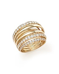 Bloomingdale's Diamond Multi Row Ring In 14K Yellow Gold 2.0 Ct. T.W. White Gold