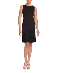 Karl Lagerfeld Lace Accented Sheath Dress Noir