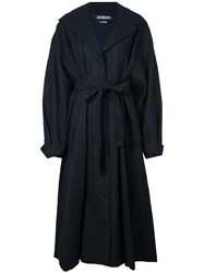 Dusan Belted Trench Coat Blue