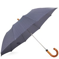 London Undercover Maple Telescopic Umbrella Blue