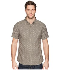 United By Blue Mountain Print Button Down Charcoal Clothing Gray