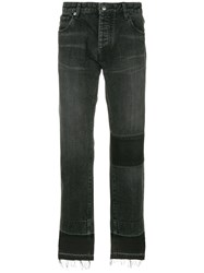 Ambush Straight Leg Patch Jeans Grey