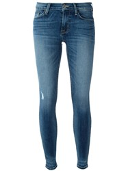 Hudson Distressed Effect Skinny Jeans Blue