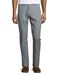 Hugo Boss Rice Flat Front Twill Trousers Gray