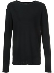 Amiri 'Shotgun' Thermal Longsleeved T Shirt Black