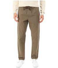 Obey Traveler Slub Twill Pants Olive Brown Men's Casual Pants
