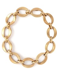 Chanel Vintage 'Rock Timeless' Choker Necklace Metallic