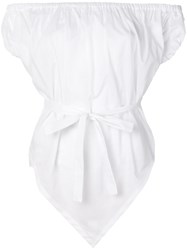 Vivienne Westwood Belted Off Shoulder Top White