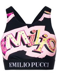Emilio Pucci Logo Print Cropped Top Pink And Purple