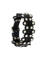 Red Valentino Flower Puzzle Bracelet Black