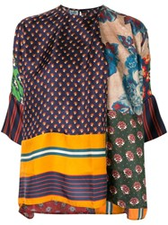 Biyan Patchwork Tunic Top Multicolour