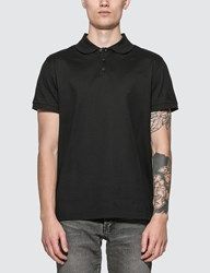Saint Laurent Monogram Polo Shirt Black