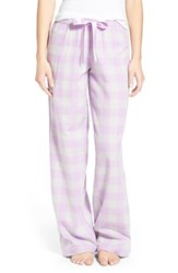 Bp. Undercover Junior Women's Bp. Plaid Lounge Pants Purple Feminine Holly Check
