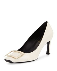 Roger Vivier Trompette Leather 70Mm Pump White