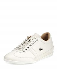 Lacoste Misano Leather Lace Up Sneaker White