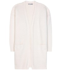 Vince Wool And Yak Knitted Cardigan White