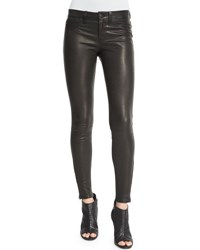 J Brand L8001 Noir Leather Super Skinny Pants Green